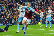 Goal Burnley forward Chris Wood (11) celebrates as he scores a goal 1-0 during the Premier League match between Burnley and West Ham United at Turf Moor, Burnley, England on 30 December 2018.