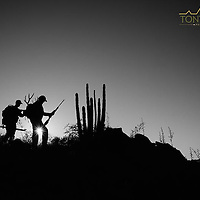 mule deer hunters on a ridge