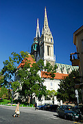 Cathedral of the Assumption of the Blessed Virgin Mary and Saint Stephen (Sveti Stjepan). Zagreb, Croatia
