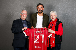 Marlon Pack of Bristol City poses with his sponsors during the Bristol Sport player sponsor evening - Rogan/JMP - 19/03/2018 - SPORT - Ashton Gate Stadium - Bristol, England - Big Sports Breakfast 2017.