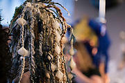"Details of one of the many hair sculptures during ""Hair Affair: The Art of Hair"" at Madison Museum of Contemporary Art in Madison, WI on Thursday, April 25, 2019. The sixth biennial brought an array of designers and stylists from across Wisconsin to create under the theme of ""Zodiac."""