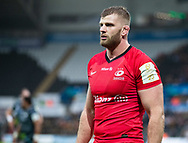 George Kruis of Saracens<br /> <br /> Photographer Simon King/Replay Images<br /> <br /> European Rugby Champions Cup Round 5 - Ospreys v Saracens - Saturday 11th January 2020 - Liberty Stadium - Swansea<br /> <br /> World Copyright © Replay Images . All rights reserved. info@replayimages.co.uk - http://replayimages.co.uk
