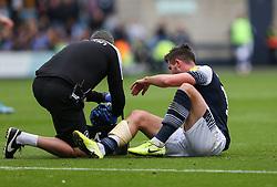 Ryan Leonard of Millwall receives treatment for an injury - Mandatory by-line: Arron Gent/JMP - 05/10/2019 - FOOTBALL - The Den - London, England - Millwall v Leeds United - Sky Bet Championship