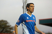 Peter Vincenti during the The FA Cup match between Rochdale and Swindon Town at Spotland, Rochdale, England on 7 November 2015. Photo by Daniel Youngs.