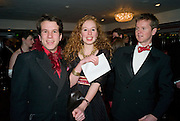 TOM GALLIANO; ELLIE COWARD; MARK HADEN. The 30th White Knights charity  Ball.  Grosvenor House Hotel. Park Lane. London. 10 January 2009