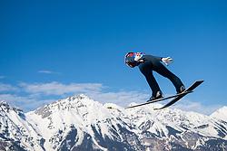 February 24, 2019 - Innsbruck, AUSTRIA - 190224 Stefan Kraft of Austria competes in ski jumping team large hill during the FIS Nordic World Ski Championships on February 24, 2019 in Innsbruck..Photo: Joel Marklund / BILDBYRÃ…N / kod JM / 87890 (Credit Image: © Joel Marklund/Bildbyran via ZUMA Press)