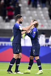 November 14, 2019, Paris, France, France: joie de Antoine Griezmann (Fra) en fin de match avec Olivier Giroud  (Credit Image: © Panoramic via ZUMA Press)