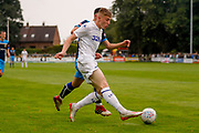 Leeds United Jack Clarke (11) sets up Leeds United Ryan Edmondson (14) who scores a goal to make the score 0-1 during the Pre-Season Friendly match between Tadcaster Albion and Leeds United at i2i Stadium, Tadcaster, United Kingdom on 17 July 2019.