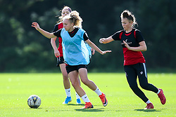 Katie Robinson and Ellie Strippel of Bristol City Women during training at Failand - Mandatory by-line: Robbie Stephenson/JMP - 26/09/2019 - FOOTBALL - Failand Training Ground - Bristol, England - Bristol City Women Training