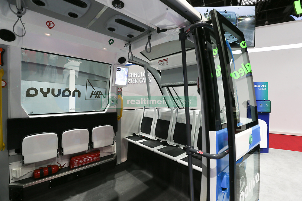 October 2, 2018 - Paris, Ile-de-France, France - Navya autonomous shuttle project is seen during the first press day of the Paris Motor Show at Paris Expo Porte de Versailles on October 02, 2018 in Paris, France. From 4 to 14 October 2018, the 'Mondial de l'automobile' presents to the public the new cars of the largest automobile brands in the world. (Credit Image: © Michel Stoupak/NurPhoto/ZUMA Press)