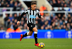 Dwight Gayle of Newcastle United - Mandatory by-line: Matt McNulty/JMP - 11/02/2018 - FOOTBALL - St James Park - Newcastle upon Tyne, England - Newcastle United v Manchester United - Premier League