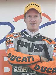 Neal Hodgson,GSE Ducati 996, British Superbike Championship, Round 12, Donington Park, 8th October 2000Niall