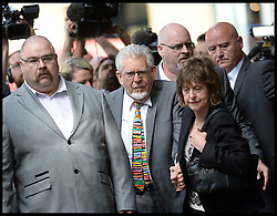 ©Licensed to i-Images Picture Agency. 04/07/2014. London, United Kingdom. Rolf Harris arrives at  Southwark Crown Court to be sentenced  after being found guilty of indecent assaults . Picture by Andrew Parsons / i-Images