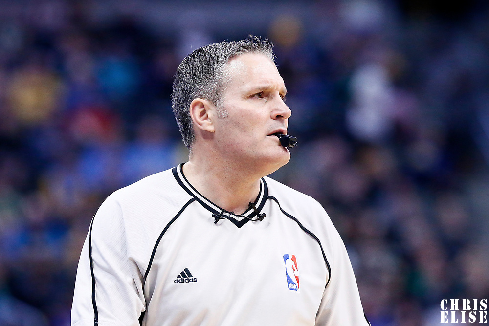 10 March 2017: referee Monty McCutchen (13) is seen during the Denver Nuggets 119-99 victory over the Boston Celtics, at the Pepsi Center, Denver, Colorado, USA.