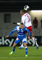 04.12.2011, Stadion, Wiener Neustadt, AUT, 1. FBL, SC Wiener Neustadt vs RB Salzburg, im Bild Christian Haselberger, (SC Magna Wiener Neustadt, #22)  vs Douglas da Silva, (Red Bull Salzburg, #3) during the Austrian Bundesliga Match, SC Wiener Neustadt against RB Salzburg, Stadium, Wiener Neustadt near Vienna, Austria on 2011-12-04, EXPA Pictures © 2011, PhotoCredit: EXPA/ S. Woldron
