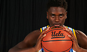 UCLA Athletics - Men's Basketball player Aaron Holiday poster shot, UCLA, Los Angeles, CA.<br /> July 22nd, 2016<br /> Copyright Don Liebig/ASUCLA
