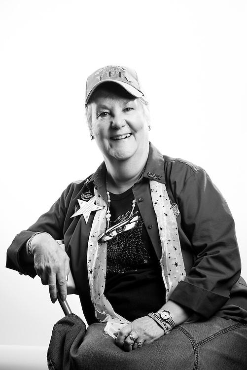 Donna L. Kleinmaus<br /> Army<br /> E-4<br /> Finance<br /> 1968 - 1970<br /> Vietnam Era<br /> <br /> Veterans Portrait Project<br /> St. Louis, MO