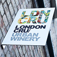 "London, UK - 15 October 2013: London Cru is the first urban winery in London by Roberson wine founder Cliff Roberson and investor Will Tomlinson. The first London Cru wine bottles are expected to go on sale next summer with a ""European Community Wine"" label."