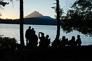 Bend, Oregon Northwest Crossing neighborhood (expanded) group family camping weekend, Lake of the Woods, Oregon.