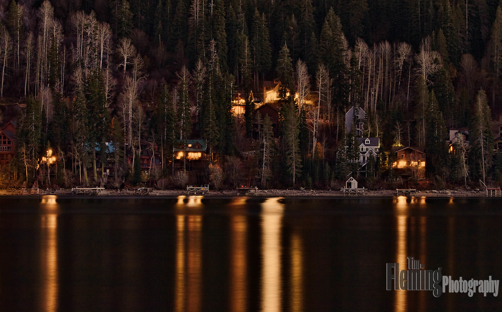 Donner Lake, in the Sierra mountains of California, is a popular resort.