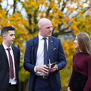 20.11.2016           <br /> Winners of the 2016 All Ireland Scholarships were commended by Rugby Legend, Paul O'Connell at an awards ceremony at the University of Limerick. <br />  Sponsored by JP McManus, the educational scheme is set to provide financial assistance to many high achieving students who completed their Leaving Certificat/A Level examinations in 2016. <br /> <br /> Attending the awards ceremony were, scholarship recipients, James McDonnell, Middleton Co. Cork and Chloe Carrick, Ballinasloe Co. Galway with Paul O'Connell. Picture: Alan Place