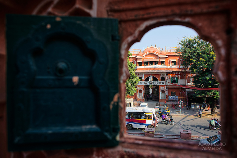 View from one of the many small windows of Hawal Mahal