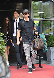 Kim's driver Gary Madar with Jonathan Cheban arriving in Bourget after marriage. Kardashian family and guests arriving at the Bourget airport, after wedding ceremony of kim Kardashian and Kanye West in Florence. Bourget, near Paris, France, on May 25, 2014. Kim's drivers Mickael Madar and his brother Gary Madar are the main suspects three months after the Kim Kardashian' robbery in a mansion in Paris during Fashion Week, the police conducted an extensive dragnet. 16 people aged 23-73 years arrested at 6am this morning in Paris and suburb. Photo by ABACAPRESS.COM