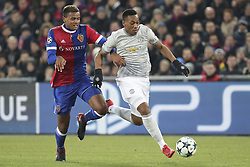 November 22, 2017 - Basel, BS, Schweiz - Basel, 22.11.2017, Fussball Champions League, FC Basel - Manchester United. Manuel Akanji (Basel) gegen Anthony Martial (Manchester) (Credit Image: © Giuseppe Esposito/EQ Images via ZUMA Press)