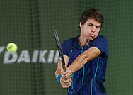 PETER HELLER (GER), DAIKIN Open 2017, ITF F14 Futures<br /> <br /> Tennis - DAIKIN Open 2017 - ITF 15.000 -  TennisBase - Oberhaching - Bavaria - Germany - 10 October 2017. <br /> &copy; Juergen Hasenkopf