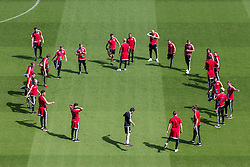 PARIS, FRANCE - Friday, June 24, 2016: Wales players during a training session at the Parc des Princes ahead of the Round of 16 UEFA Euro 2016 Championship match against Northern Ireland. (Pic by Paul Greenwood/Propaganda)