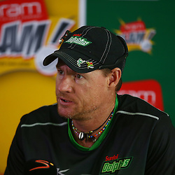 Durban South Africa December 8- : Lance Klusener (Head Coach) of the Sunfoil Dolphins during the Sunfoil Dolphins RAM Slam T20 Challenge media opportunity at Sahara Stadium Kingsmead (Photo by Steve Haag) images for social media must have consent from Steve Haag and a copyright.