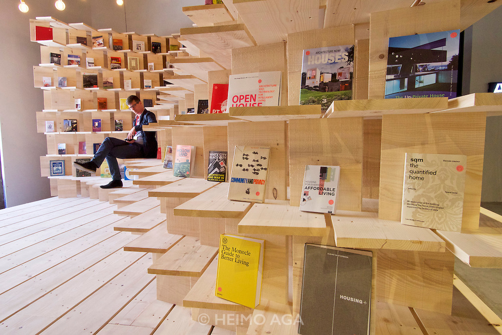 """Venice, Italy - 15th Architecture Biennale 2016, """"Reporting from the Front"""".<br /> Arsenale.<br /> Slovenia. Grupo EPM."""