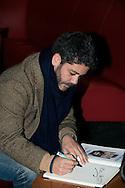 """©www.agencepeps.be - 140303 - F.Andrieu - Manu Payet était présent à Bruxelles lors de l'avant première de son film """"Situation amoureuse compliquée"""" qui s'est déroulée au cinéma UGC Toison d'Or."""