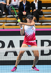 February 6, 2019 - Zielona Gora, Poland - Iga Swiatek (POL) during Tennis 2019 Fed Cup by Paribas Europe/Africa Zone Group 1  match between Poland and Russia  in Zielona Gora, Poland, on 7 February 2019. (Credit Image: © Foto Olimpik/NurPhoto via ZUMA Press)