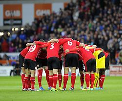 Cardiff City Huddle - Photo mandatory by-line: Joe Meredith/JMP - Tel: Mobile: 07966 386802 03/11/2013 - SPORT - FOOTBALL - The Cardiff City Stadium - Cardiff - Cardiff City v Swansea City - Barclays Premier League