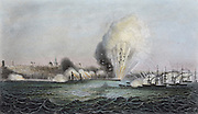 Crimean War: British and French bombardment of Odessa, 22 April 1854.