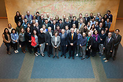 Group photo of the Celebration of the 25th Anniversary of the partnership with Leipzig University speakers and attendees.