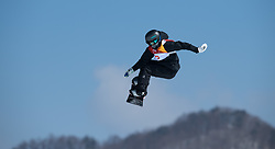 February 12, 2018 - Pyeongchang, South Korea - ENNI RUKAJARVI on her bronze medal run in the Womens Snowboard Slopestyle finals at Phoenix Snow Park at the Pyeongchang Winter Olympic Games.  Photo by Mark Reis, ZUMA Press/The Gazette (Credit Image: © Mark Reis via ZUMA Wire)