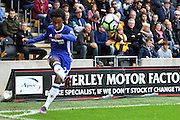 Chelsea midfielder Willian (22) takes corner  during the Premier League match between Hull City and Chelsea at the KCOM Stadium, Kingston upon Hull, England on 1 October 2016. Photo by Ian Lyall.