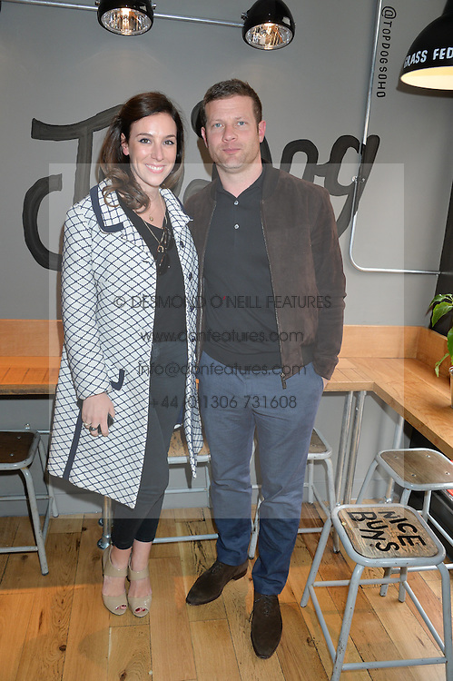 DERMOT O'LEARY and DEE KOPPANG at a party to celebrate the launch of Top Dog at 48 Frith Street, Soho, London on 27th May 2015