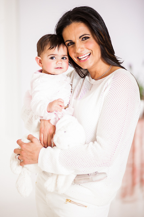 SABC's Morning Live anchor, Leanne Manas and her Family shot for the September issue Cover of Living & Loving Magazine.