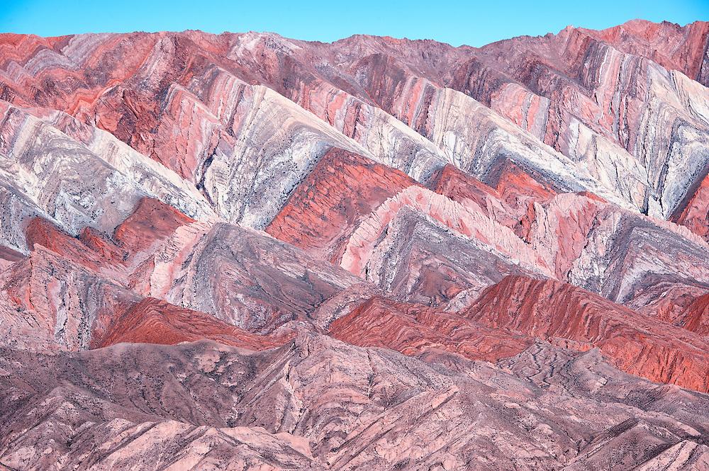 View of the Cerro de Siete Colores, Purmamarca, Jujuy (Argentina)