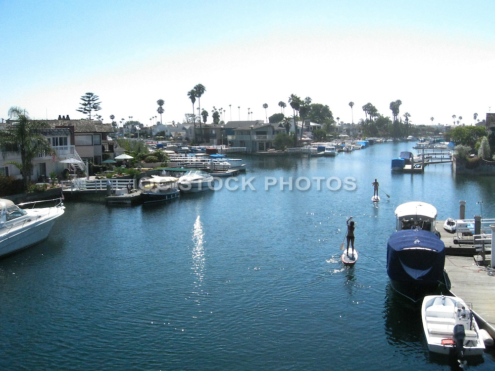 Paddleboarding In Newport Harbor