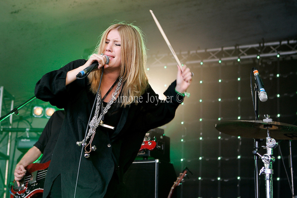 Lykke Li performs live the Gaymers Great Escape Stage during day one of the Love Box Weekender at Victoria Park on July 19, 2008 in London England.  (Photo by Simone Joyner)