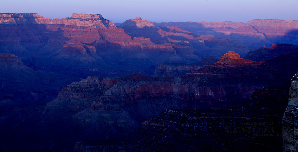 Photo by Gary Cosby Jr.  ..The Grand Canyon puts on its most spectacular show at sunset.  This view is from Hopi Point, one of the most popular overlooks for sunset watchers.