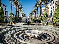 Street life in downtown Rabat, Morocco.