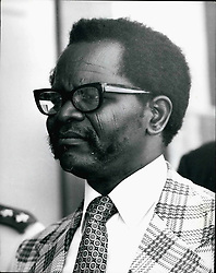 Feb. 28, 2012 - Oliver Tambo, President of the African National Congress of South Africa. Born 1917. Educated Fort Hare University. Banned from attending meetings, 1954, 1959. Arrested for treason, 1956. Released, 1957. Deputy President ANC, 1958. President, 1967. Head of External Mission of ANC. Credits: Camerapix (Credit Image: © Keystone Pictures USA/ZUMAPRESS.com)