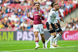May 27, 2019 - London, England, United Kingdom - Jack Grealish (10) of Aston Villa reacts after a missed chance at goal during the Sky Bet Championship match between Aston Villa and Derby County at Wembley Stadium, London on Monday 27th May 2019. (Credit: Jon Hobley | MI News) (Credit Image: © Mi News/NurPhoto via ZUMA Press)