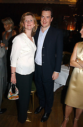 GEORGE OSBORNE MP and his wife FRANCES at a party to celebrate the publication of 'A History of The English Speaking Peoples Since 1900' hosted by Andrew Roberts and Susan Gilchrist at the English-Speaking Union, 37 Charles Street, London W1 on 11th September 2006.<br />