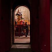 Doorway in Matsu Temple in Tainan, Taiwan